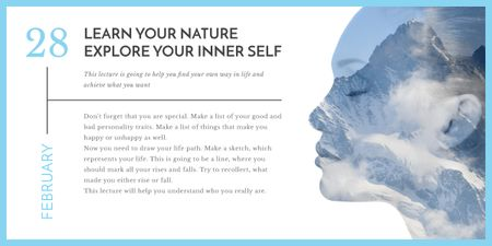 explore your inner self banner Image Modelo de Design