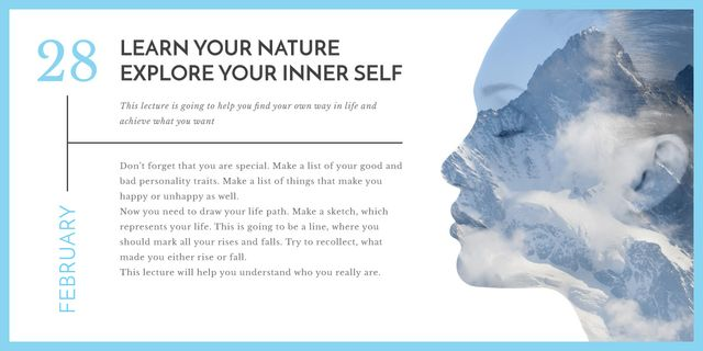 explore your inner self banner Image Design Template