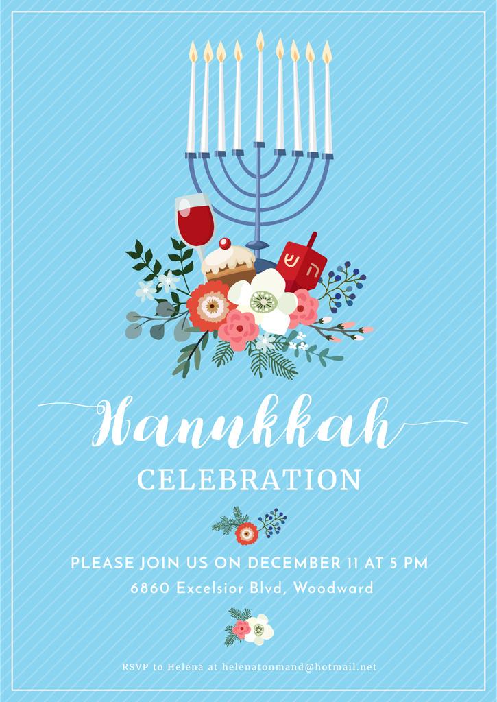 Invitation to Hanukkah celebration  — Create a Design