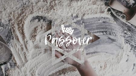 Hand in Flour Cooking bread for Passover  Full HD video Modelo de Design