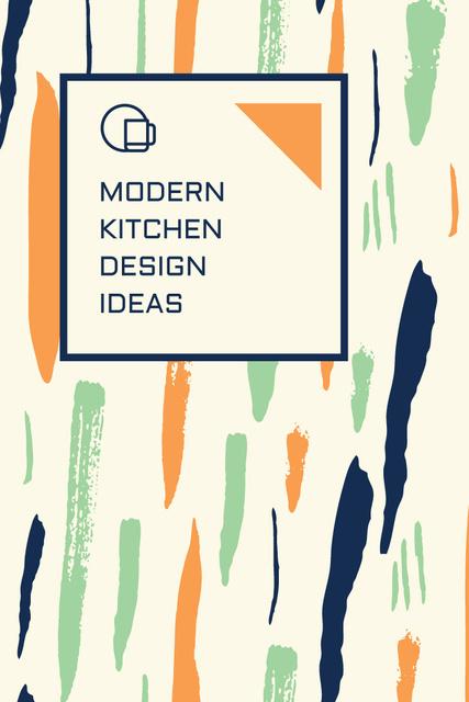 Kitchen Design Ad with Colorful Smudges Pinterest – шаблон для дизайну