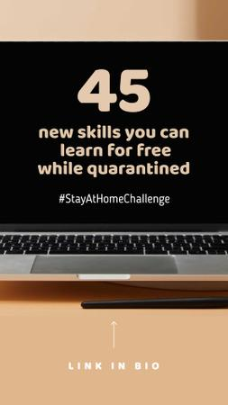 Education Courses guide on screen for #StayAtHomeChallenge Instagram Story – шаблон для дизайна