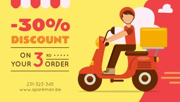 Man on Scooter Delivering Parcel in Red | Blog Image Template