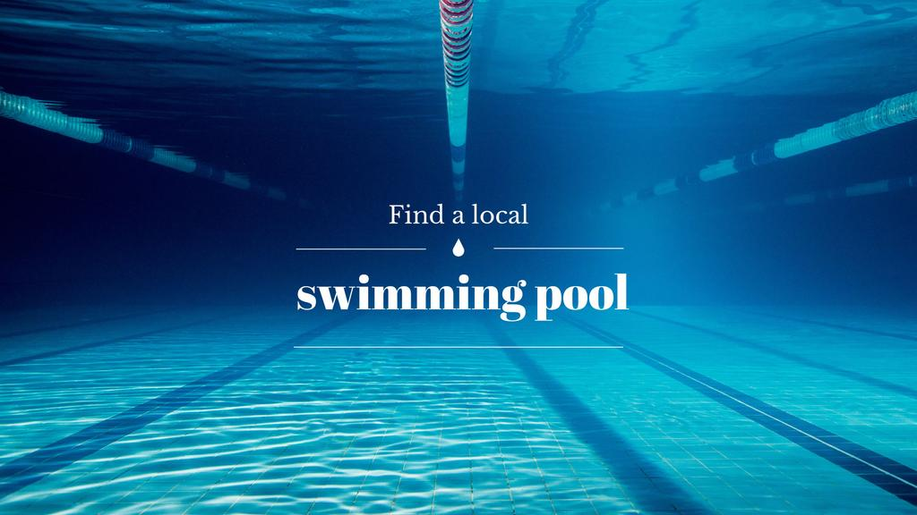 Local swimming pool poster — Crear un diseño