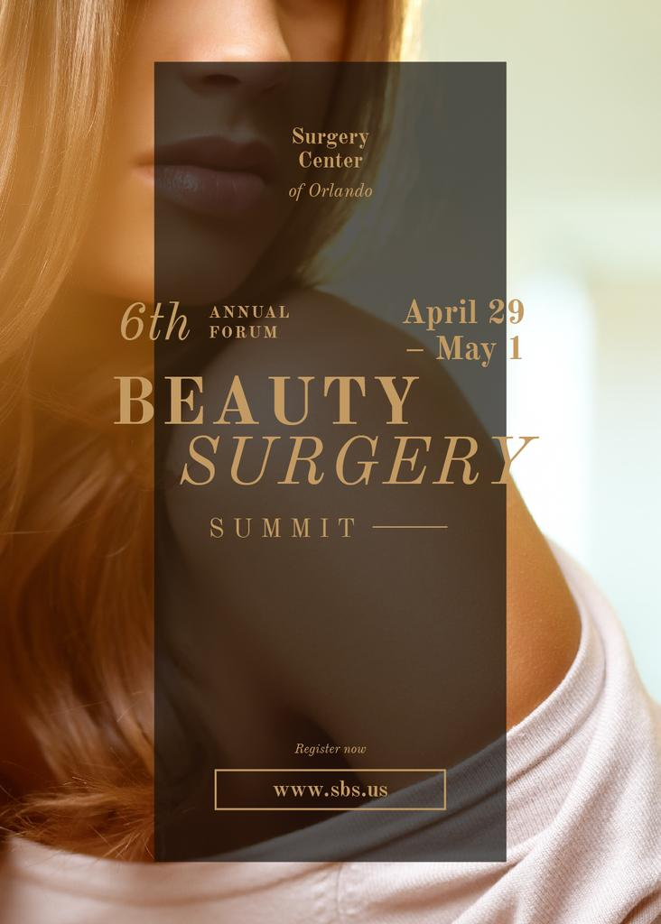 Young attractive woman at Beauty Surgery summit — Créer un visuel