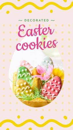 Easter eggs cookies Instagram Story Modelo de Design