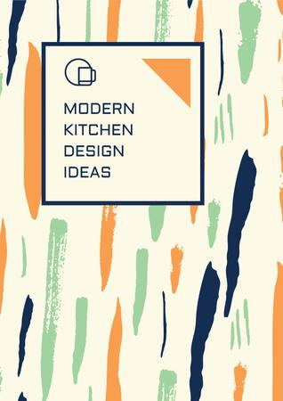 Modern kitchen design ideas Poster Modelo de Design
