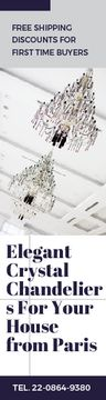 Elegant Crystal Chandeliers Offer in White | Wide Skyscraper Template