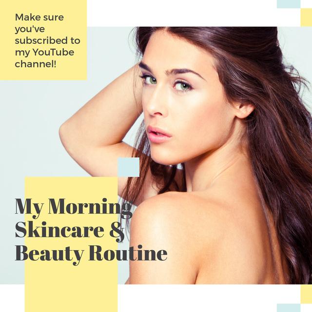Plantilla de diseño de Blog Ad with Pretty Young Woman Instagram