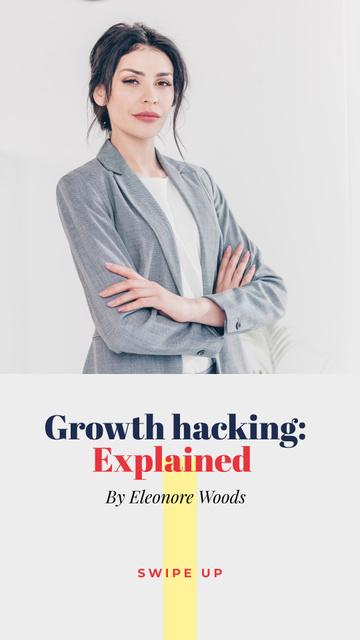 Plantilla de diseño de Confident Businesswoman for company promotion Instagram Story