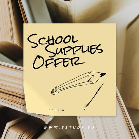 Plantilla de diseño de Special School Offer with pencil drawing the line Animated Post