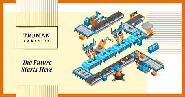 Automated Production Line Facebook AD – шаблон для дизайну