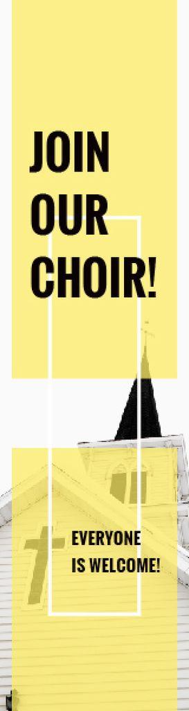 Invitation to a religious choir — Створити дизайн