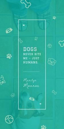 Dogs Quote with cute Puppy Graphic Design Template