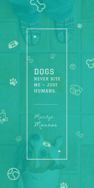 Dogs Quote with cute Puppy Graphicデザインテンプレート