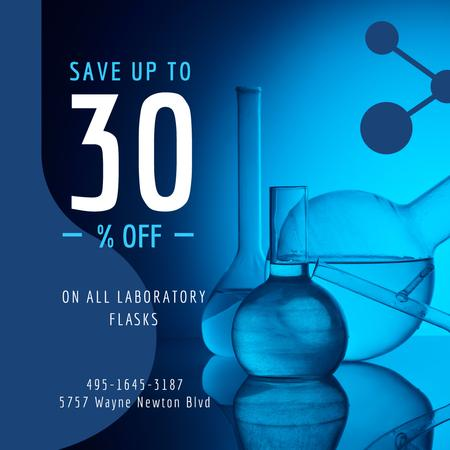 Laboratory Equipment Sale Glass Flasks Instagram – шаблон для дизайна