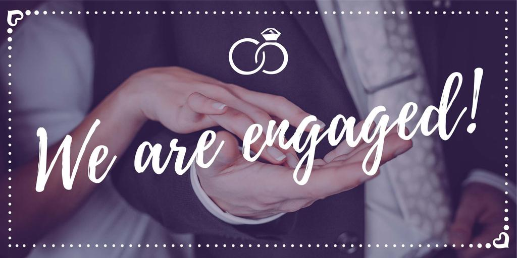 We are engaged banner — Create a Design