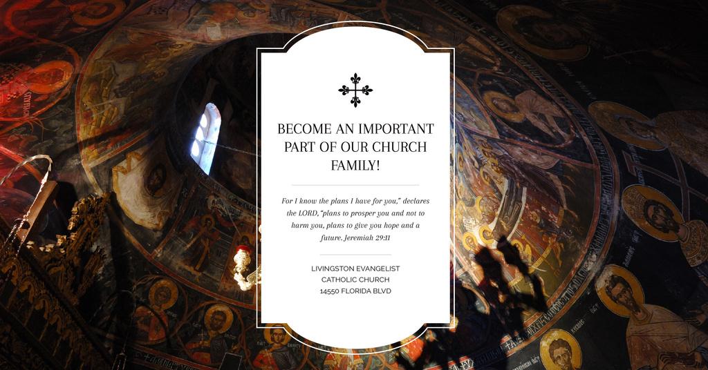 Evangelist Catholic Church with Painted Ceiling — Crear un diseño