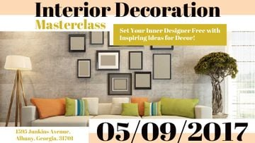 Interior decoration masterclass with Sofa in room