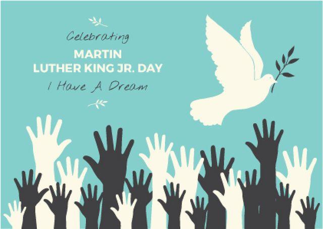 Plantilla de diseño de Martin Luther King day card Postcard