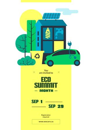 Invitation to eco summit Posterデザインテンプレート