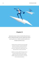 Leader Businessman Flying on a Rocket