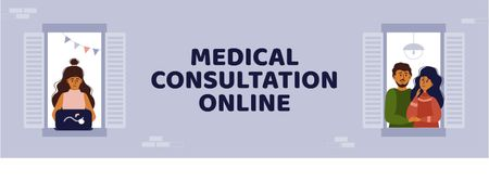 Online Medical Support Facebook cover Tasarım Şablonu