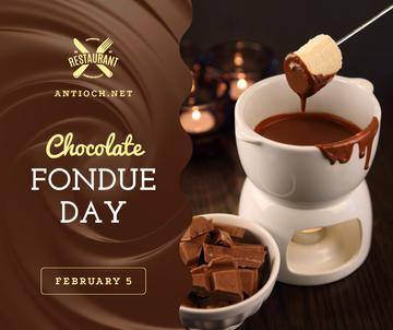 Hot chocolate fondue day celebration