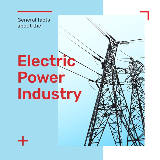 Electric power lines Instagram – шаблон для дизайна
