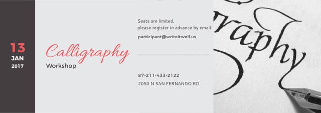 Calligraphy Workshop Announcement Decorative Letters Tumblr Tasarım Şablonu