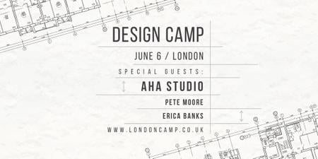 Design camp in London Twitter Tasarım Şablonu