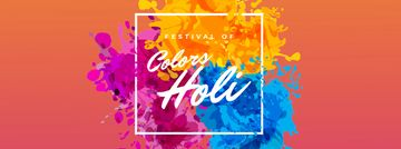 Indian Holi Festival Colorful Frame