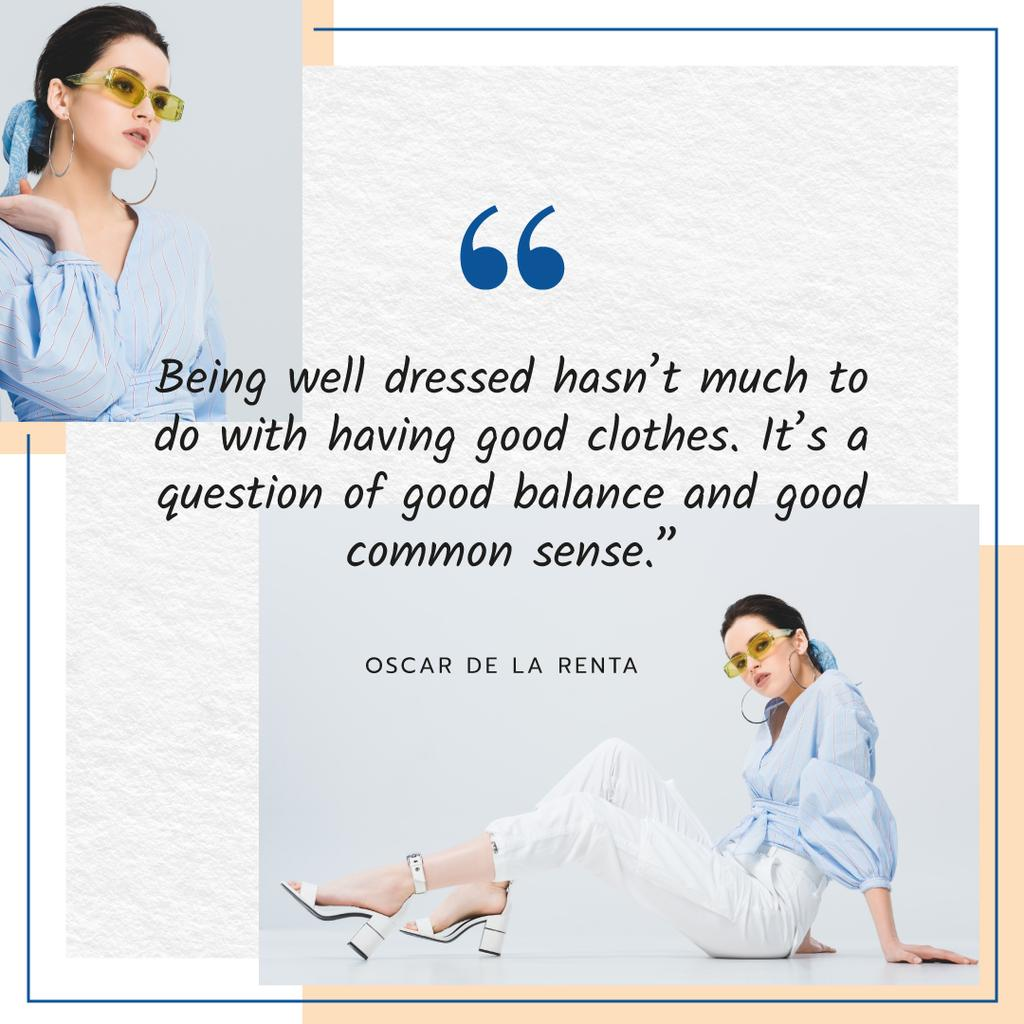 Fashion Quote Woman in Stylish Outfit — Créer un visuel
