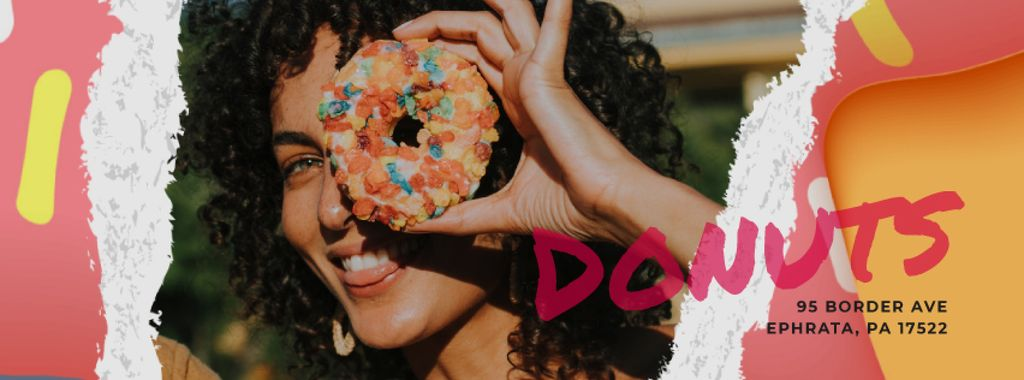 Girl holding doughnut — Créer un visuel