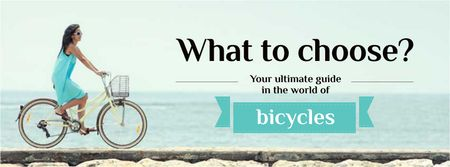 Guide in the world of bicycles Facebook cover Modelo de Design