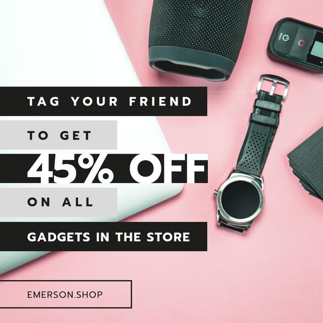 Plantilla de diseño de Gadgets Sale Digital Devices on Working Table Instagram