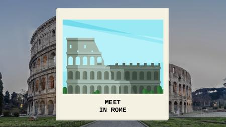 Designvorlage Meet In Ancient Rome in famous Places für Full HD video