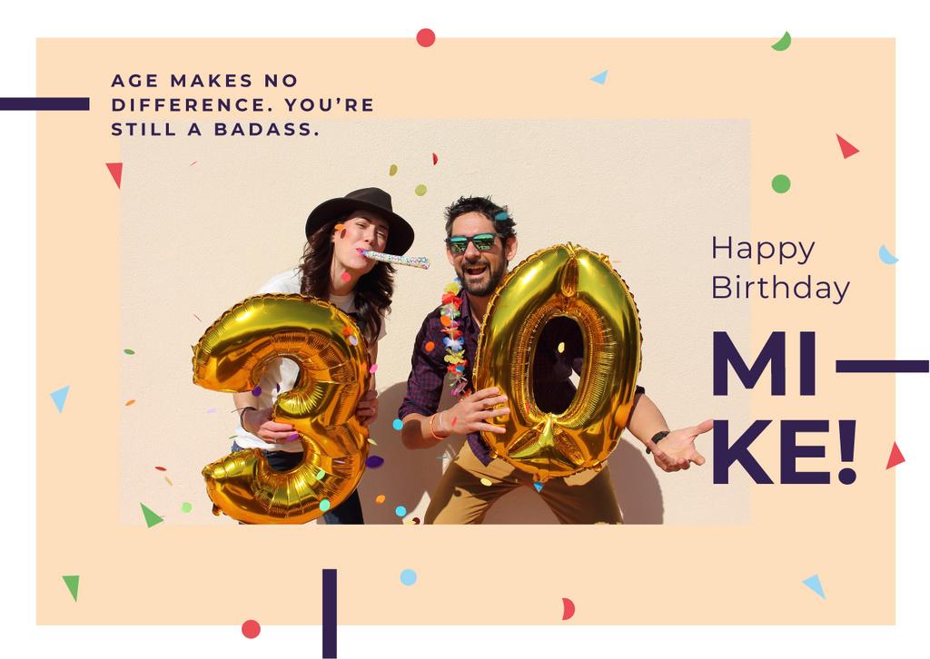 Couple celebrating 30th anniversary — ein Design erstellen