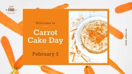 Plantilla de diseño de Carrot Cake Day Celebration FB event cover