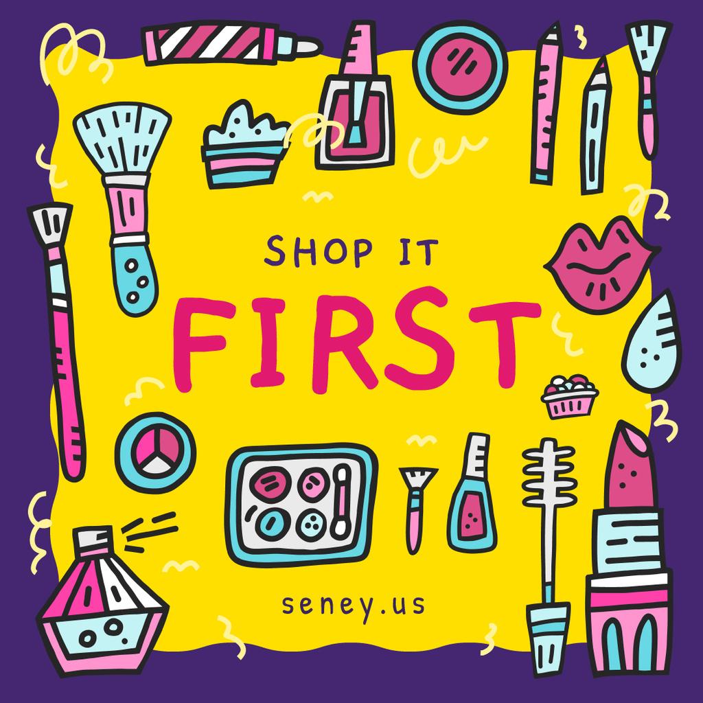 Makeup cosmetics set — Crear un diseño
