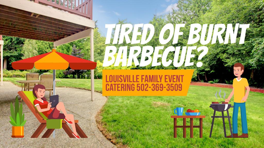 Barbecue Invitation Man by Grill — Modelo de projeto