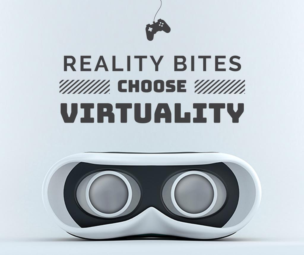 Virtual Reality Glasses in White —デザインを作成する