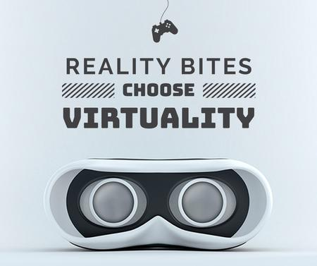 Plantilla de diseño de Virtual Reality Glasses in White Facebook