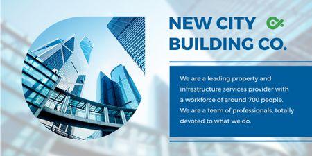 Modèle de visuel New city building poster - Image