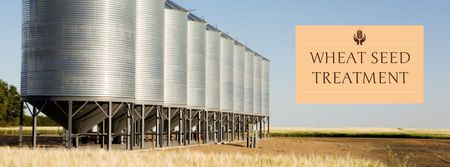 Plantilla de diseño de Wheat seed treatment Facebook cover