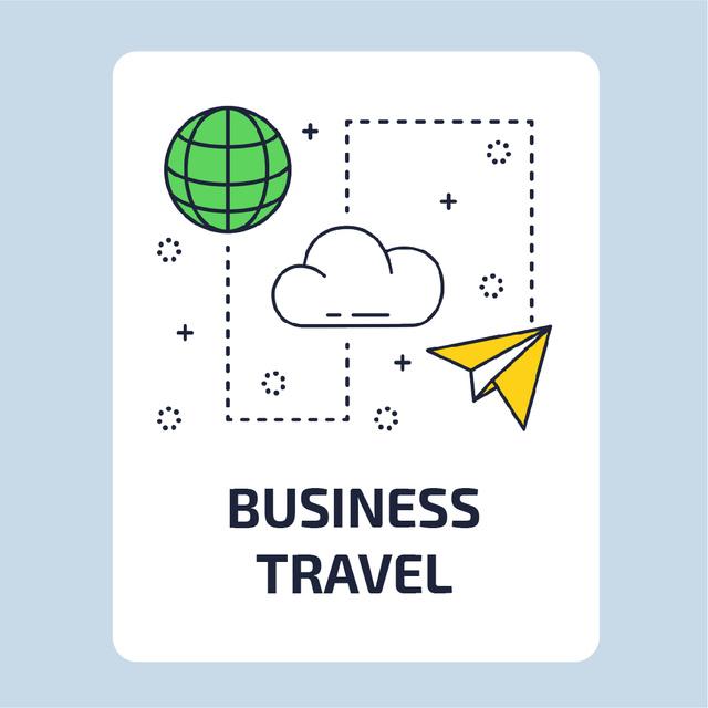 Ontwerpsjabloon van Animated Post van Travelling services icons