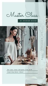 Master class Ad Woman at stylish kitchen