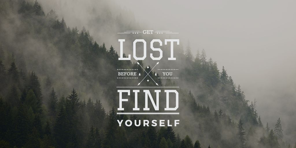 get lost before you find yourself — ein Design erstellen