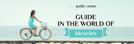 Designvorlage guide in the world of bicycles banner für Twitter