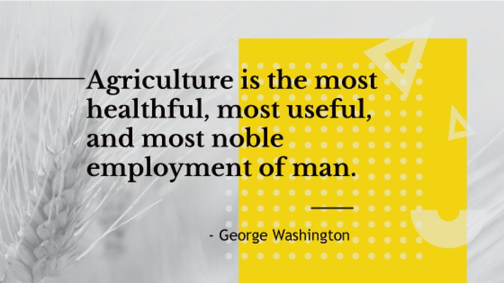 agricultural quote with ear of wheat — ein Design erstellen